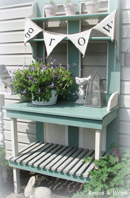 Old Door Potting Bench