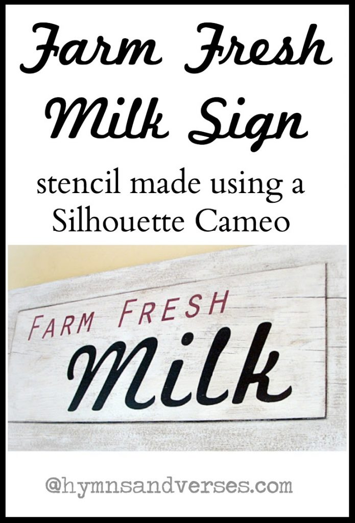 DIY Farm Fresh Milk Sign