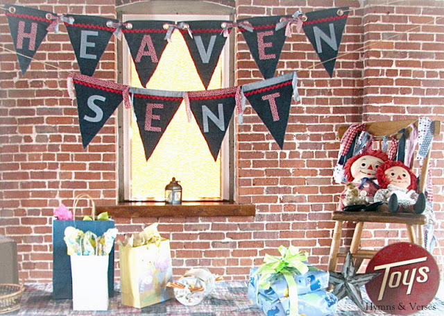 Raggedy Ann Baby Shower Gift Table