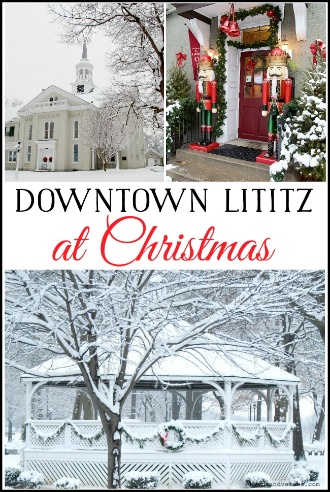Downtown Lititz at Christmas - Hymns and Verses
