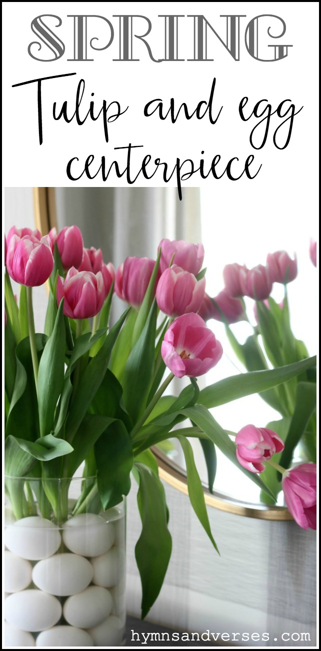 Spring Tulips and Egg Centerpiece for Easter