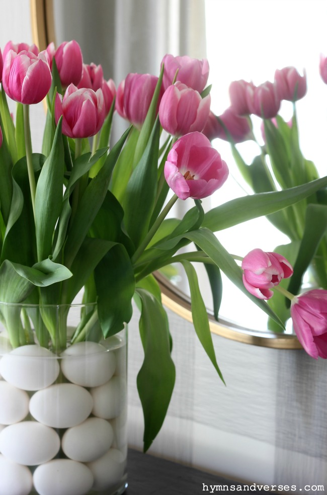 Spring Tulips and Eggs Flower Arrangement