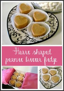 Heart Shaped Peanut Butter Fudge