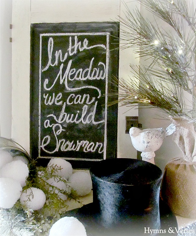 In the Meadow We Can Build a Snowman Chalkboard