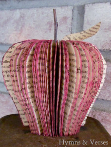 book page apple - lavender topiaries