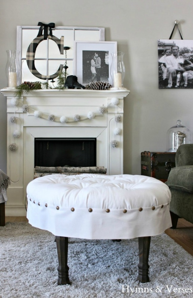 My Tips for Creating a Cozy Winter Home - Winter Living Room and Mantel