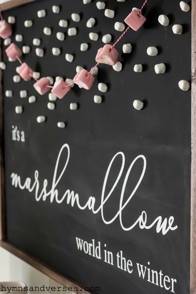 Marshmallow World in the Winter Sign