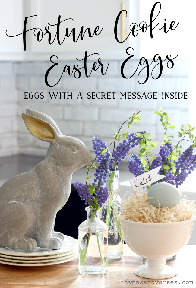 Fortune Cookie Easter Eggs - Eggs with a Secret Message Inside - Hymns and Verses Blog