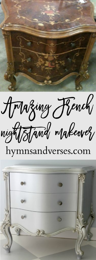 French Nightstand Makeover