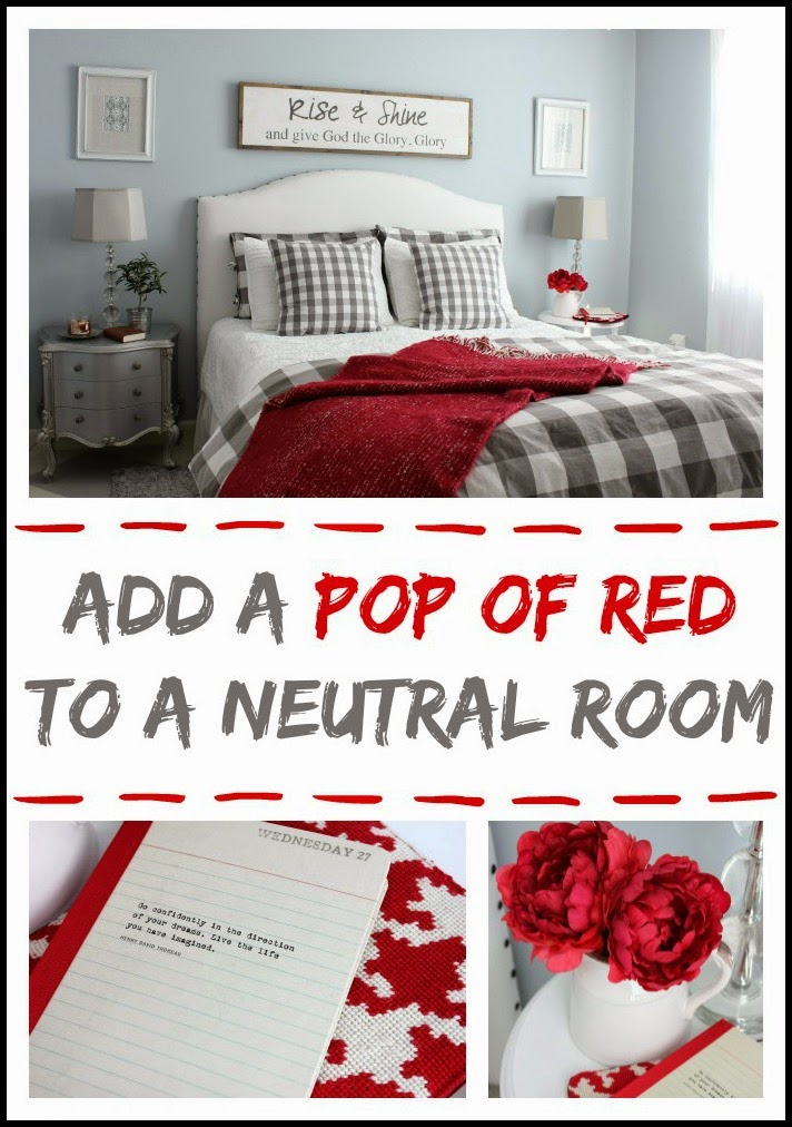 Adding A Pop Of Red To A Neutral Room Hymns And Verses