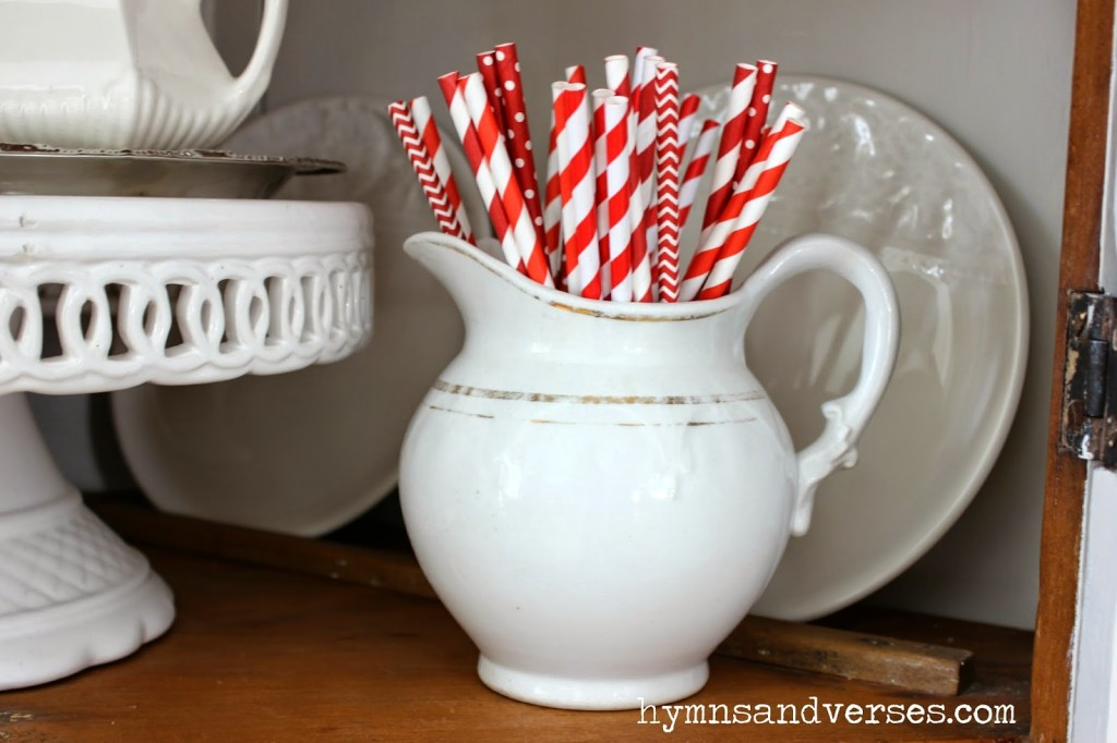 Love Sweet Love - Red and White Paper Straws