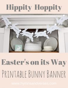 Hippity Hoppity Easter's On Its Way Printable Bunny Banner