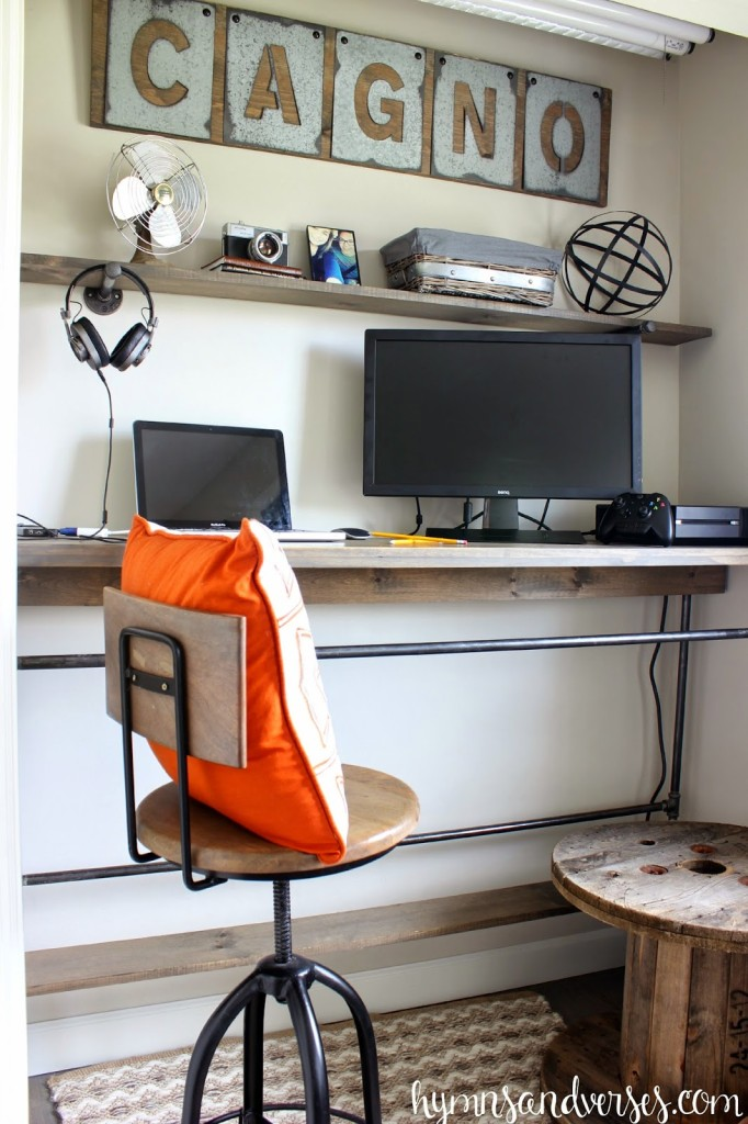 In Closet DIY Desk