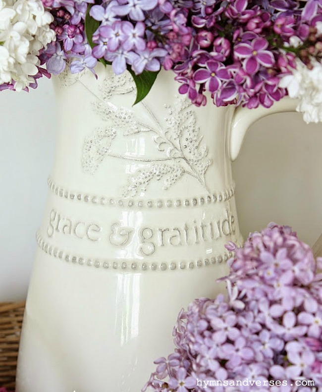 Mary and Martha Grace and Gratitude Pitcher