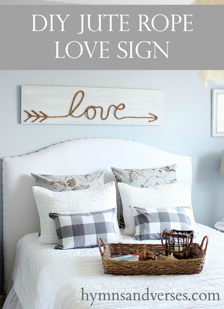 Rope Love Sign