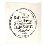 Shop My Home - Acts 2:46 Tea Towel