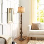 Shop My Home - Distressed Wood Floor Lamp