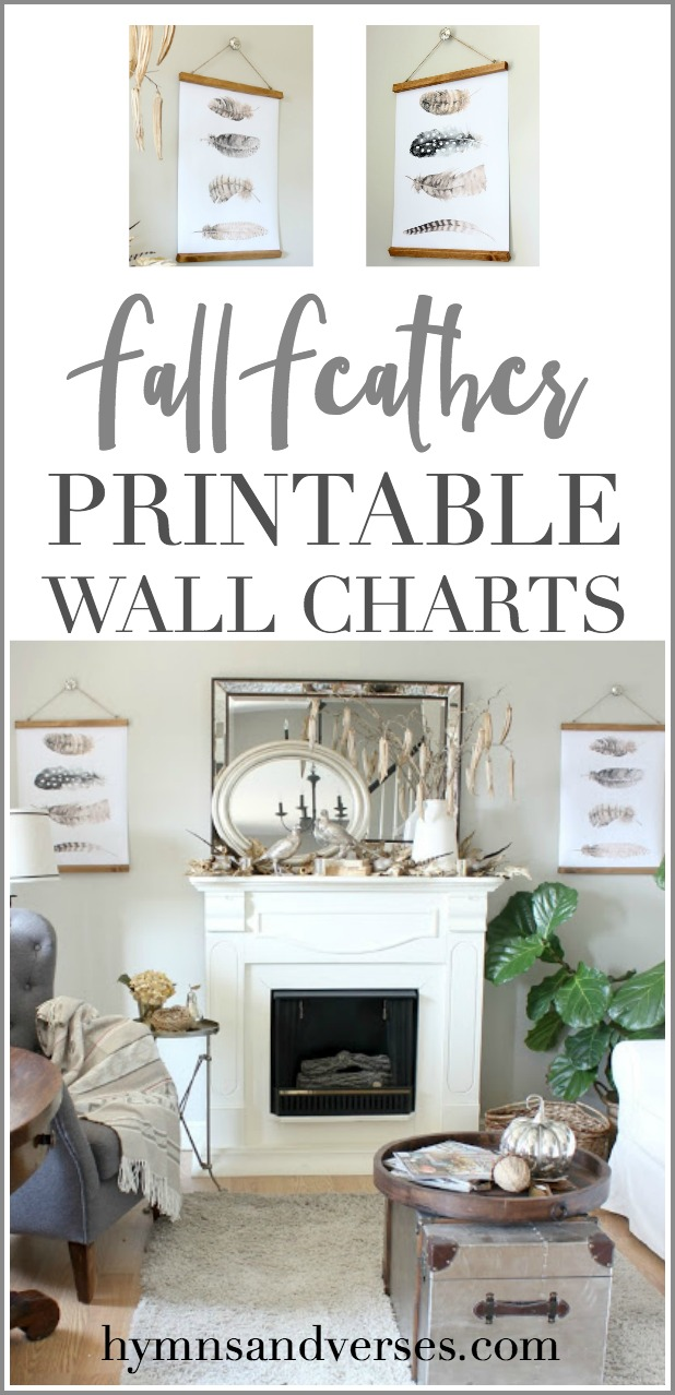 Free Fall Feather Printable Wall Charts