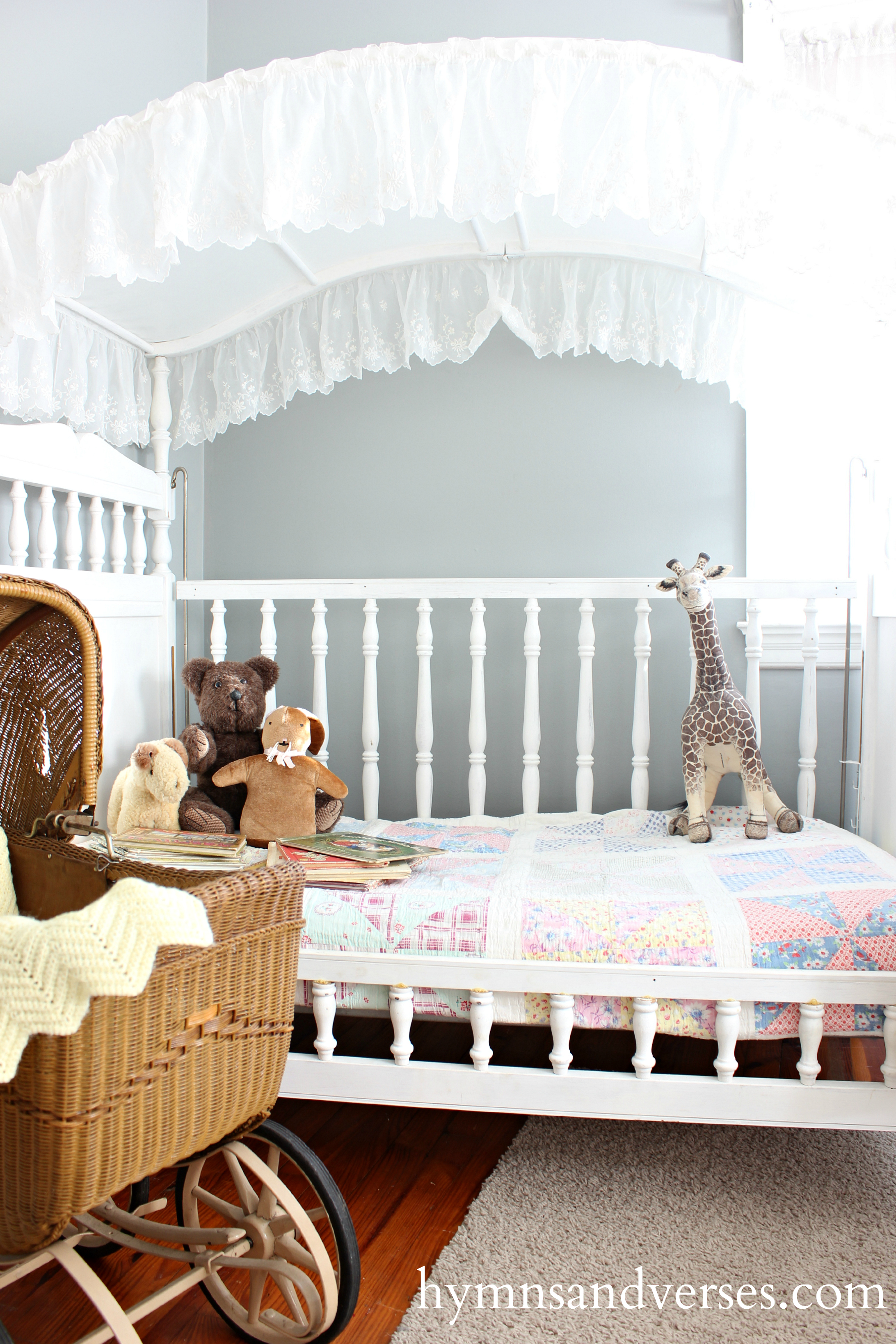 Canopy Crib Becomes a Cozy Daybed - Hymns and Verses
