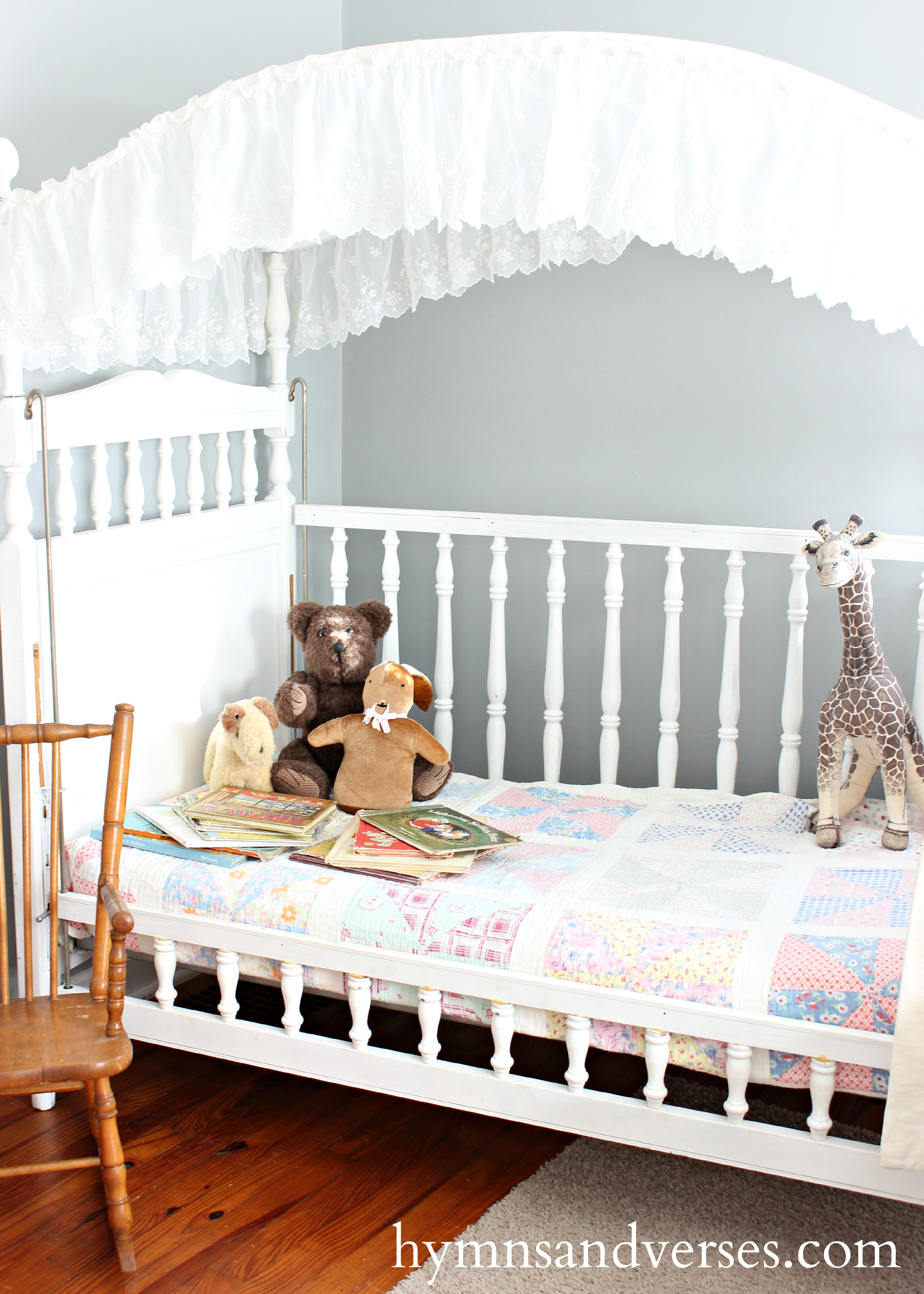 Canopy Crib Becomes A Cozy Daybed Hymns And Verses