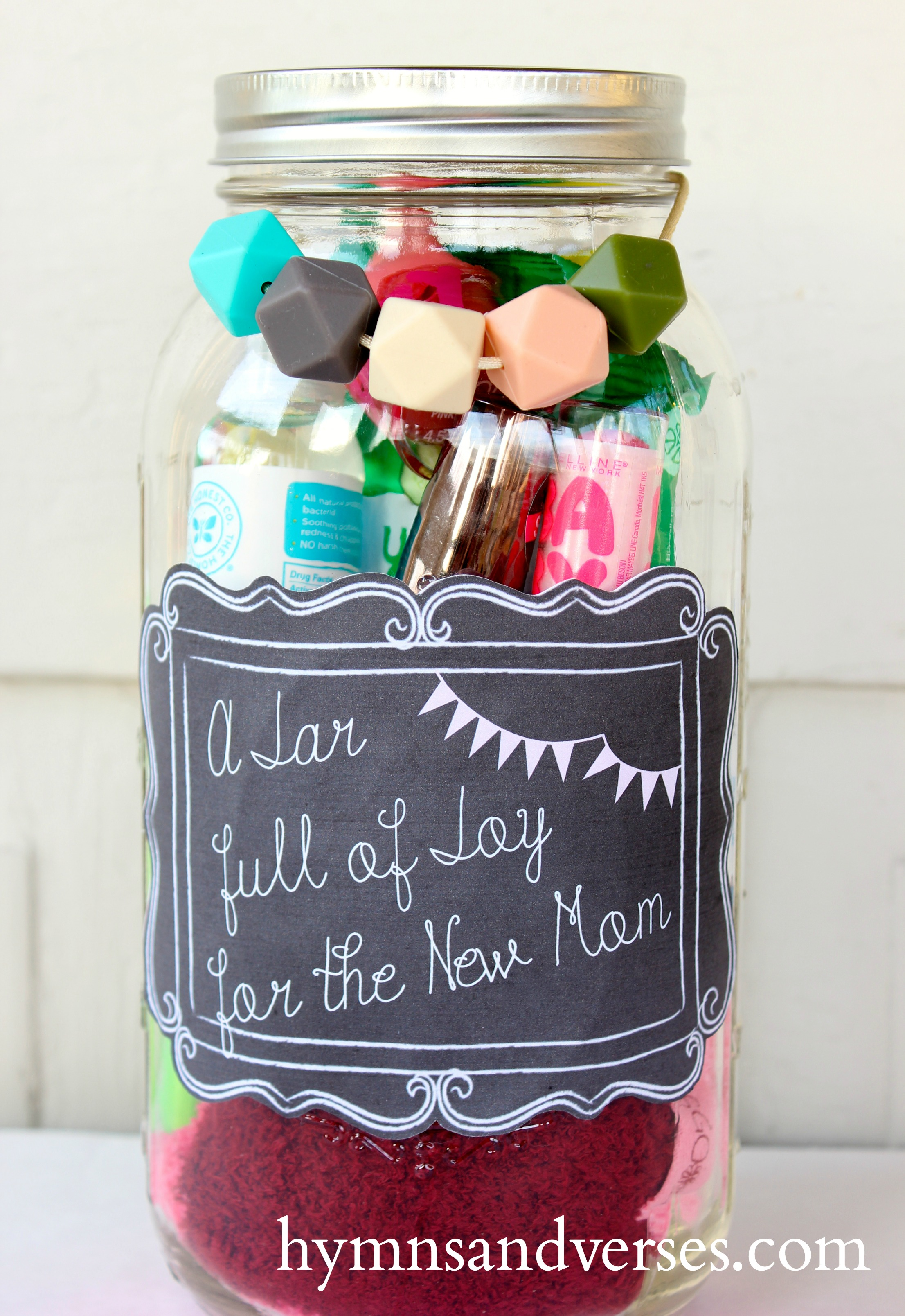 Mason Jar Gift for the New Mom - Hymns and Verses