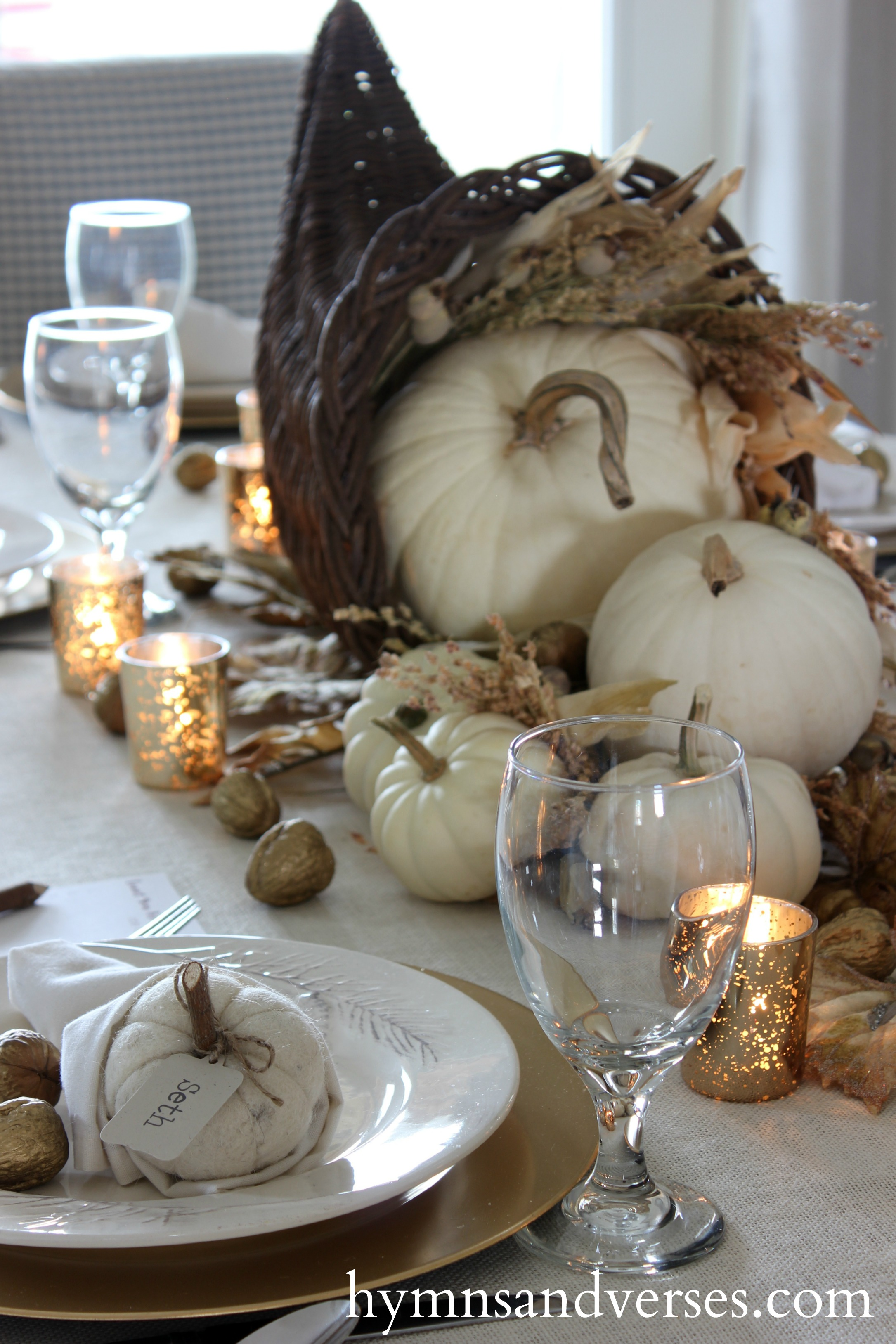 Cornucopia Thanksgiving Tablescape Hymns And Verses