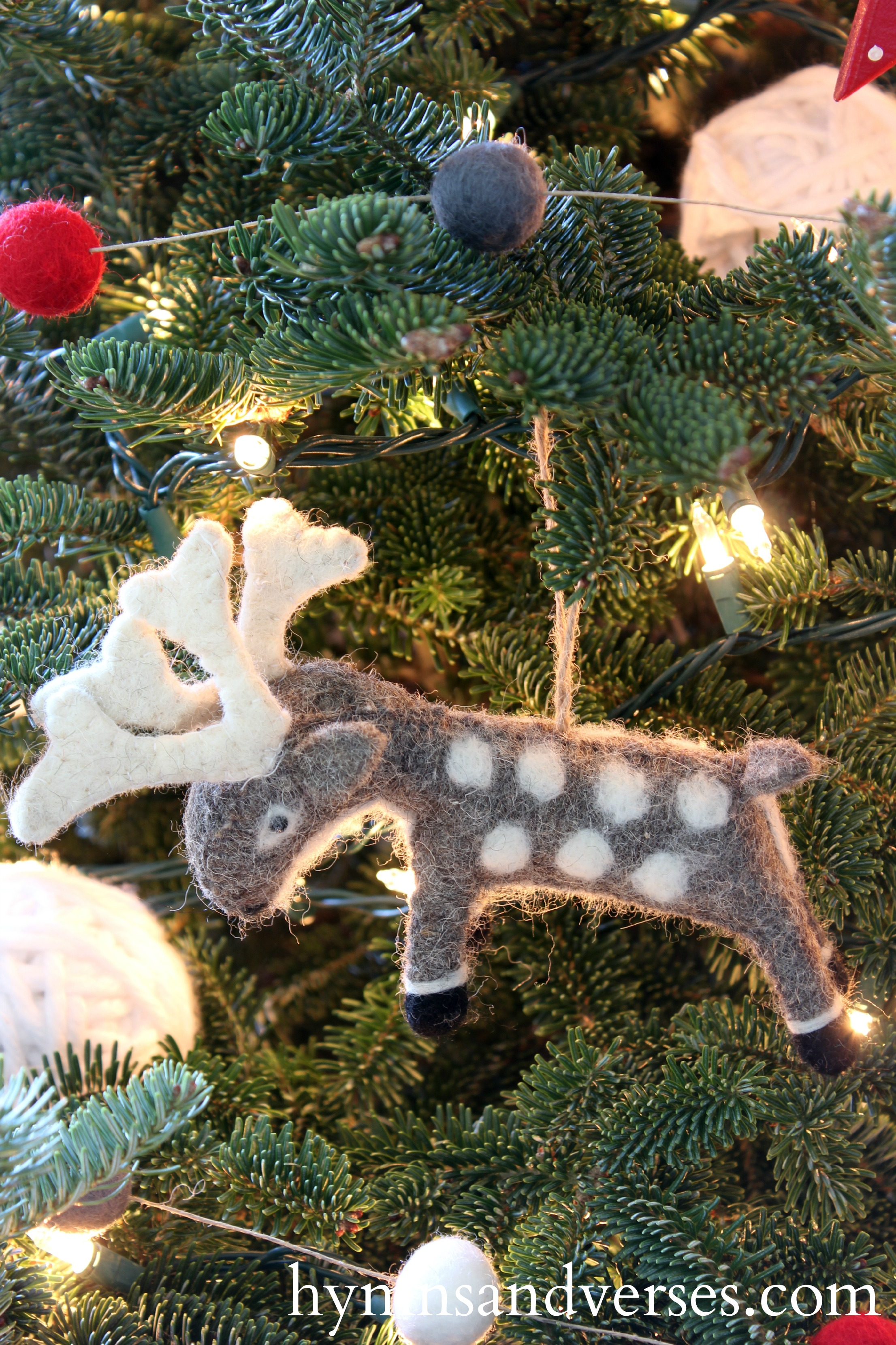 Wool Reindeer Ornament