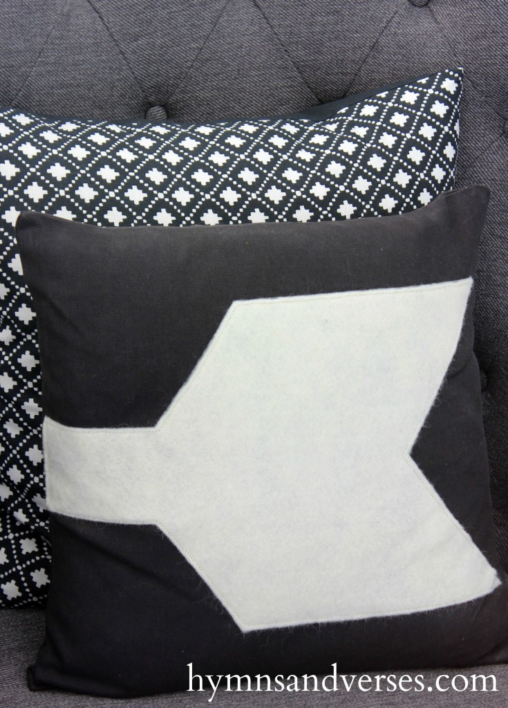 Arrow Pillow - Winter Living Room