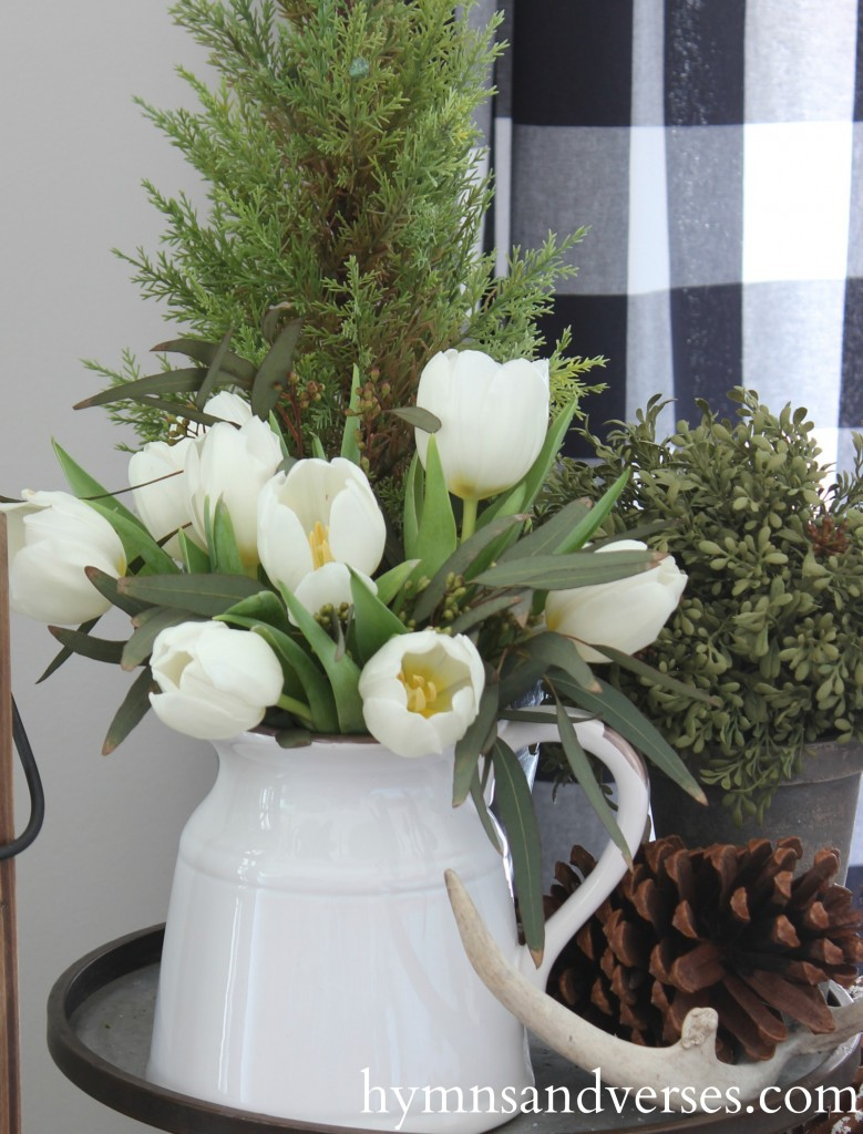 White Tulips - Winter Living Room