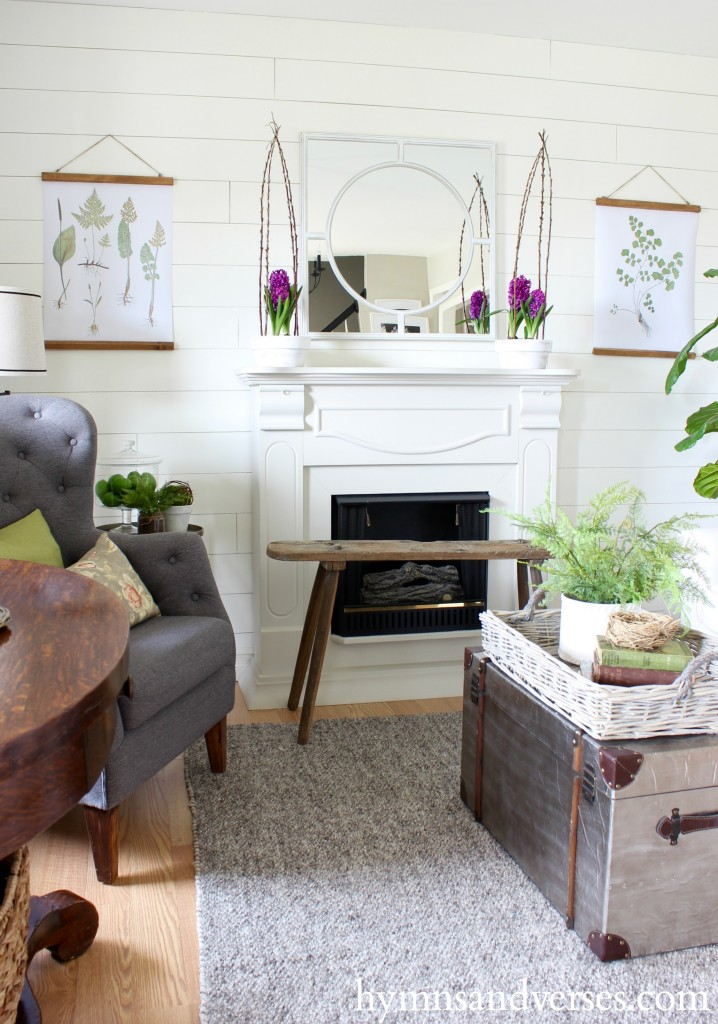 Plum and Green Living Room Spring Home Tour
