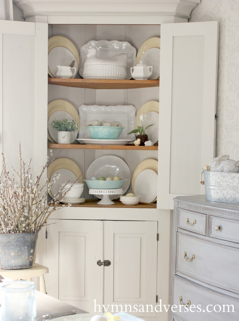 Corner Cupboard Spring Home Tour