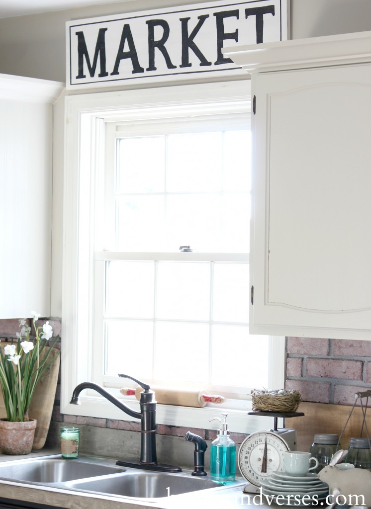 Kitchen Window Spring Home Tour