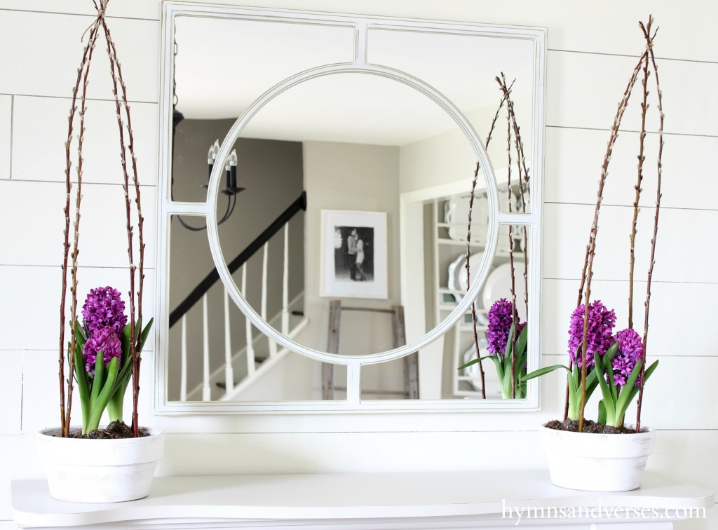 Willow Branch Caged Hyacinth Spring Home Tour
