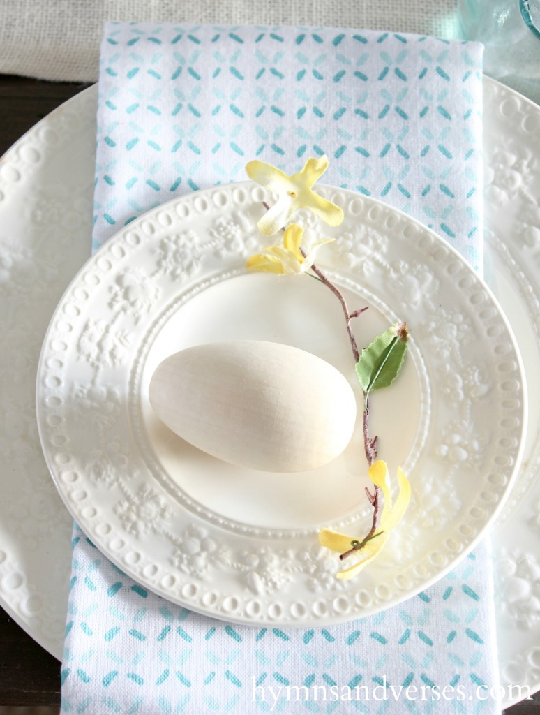 Egg Place Setting Spring Home Tour