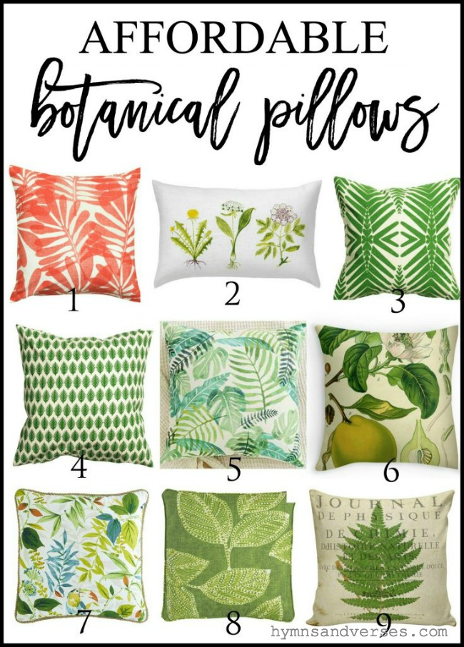 Affordable Botanical Pillows Graphic
