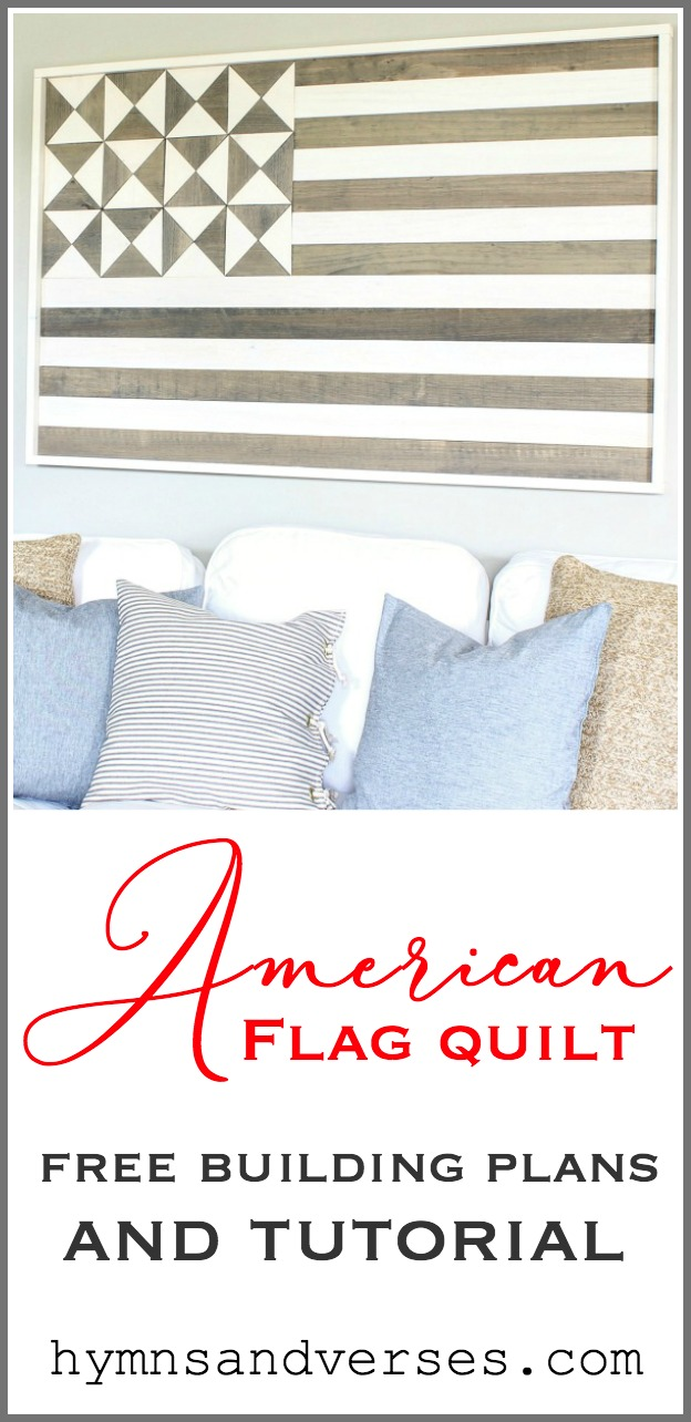 American Flag Wall Quilt Graphic