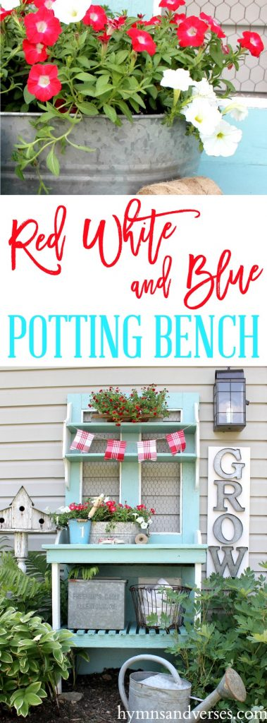 Red, White and Blue - Potting Bench