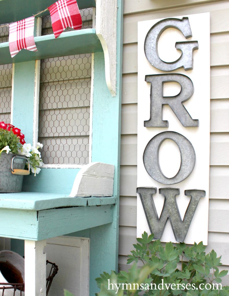 Red, White and Blue - Galvanized Grow Sign