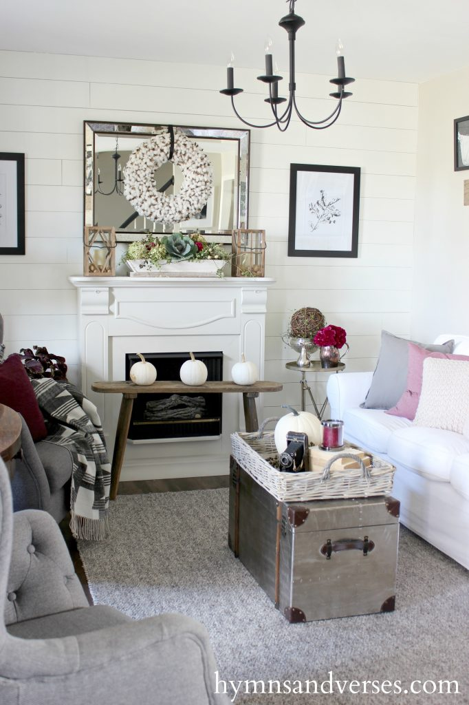 Decor To Adore A Lovely Collection Of Fall Home Tours Plum And Gray Living  Room Part 88