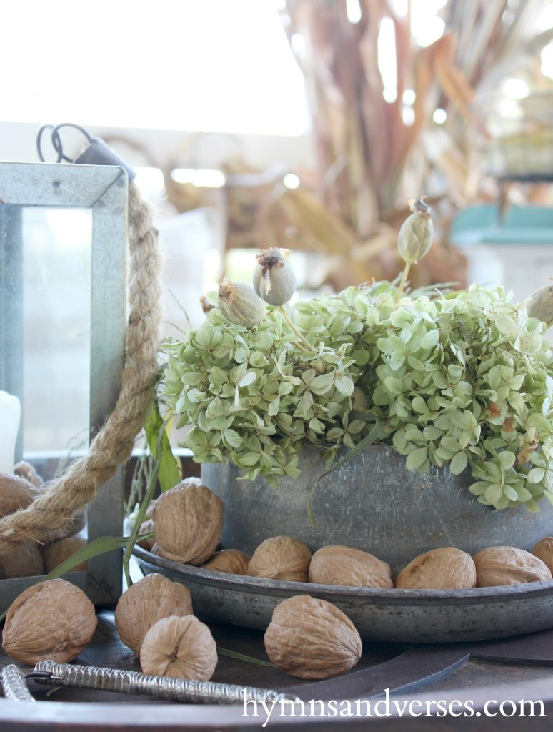 Fall Season Inspiration - Milk Can Lid Arrangement - Fall Season Decor
