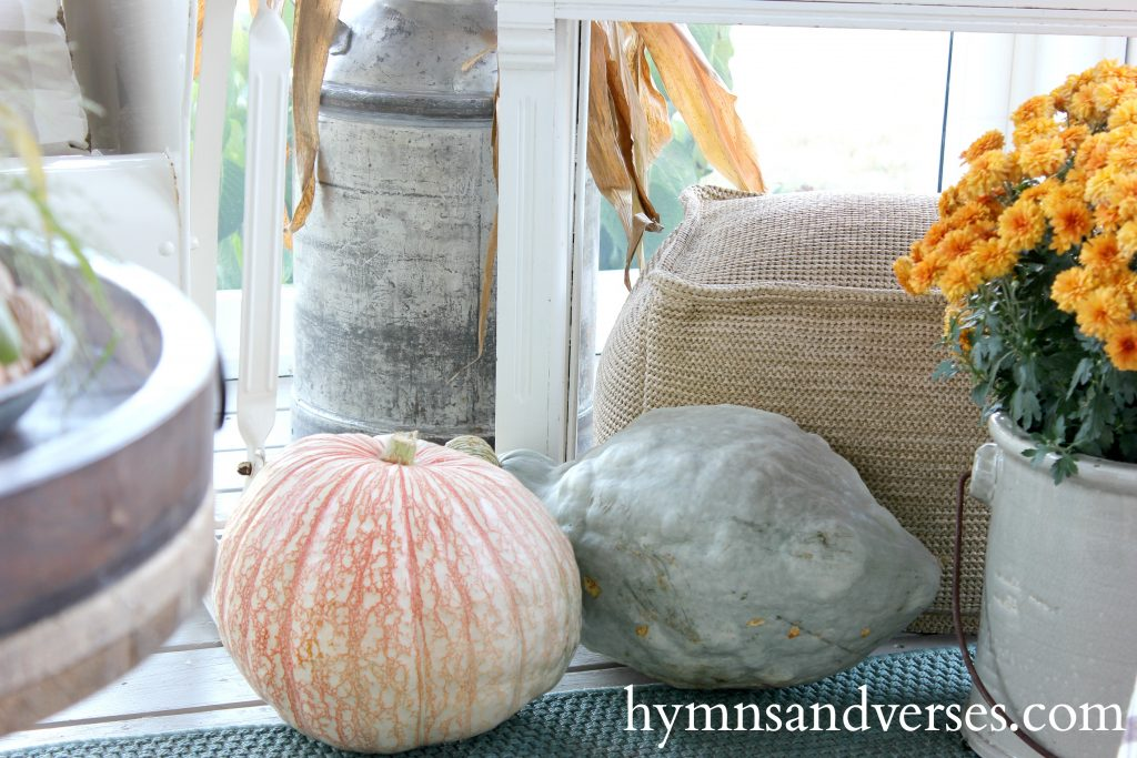 Pumpkins and Mums - Autumn on the Porch