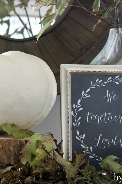 Autumn Chalkboard Printable