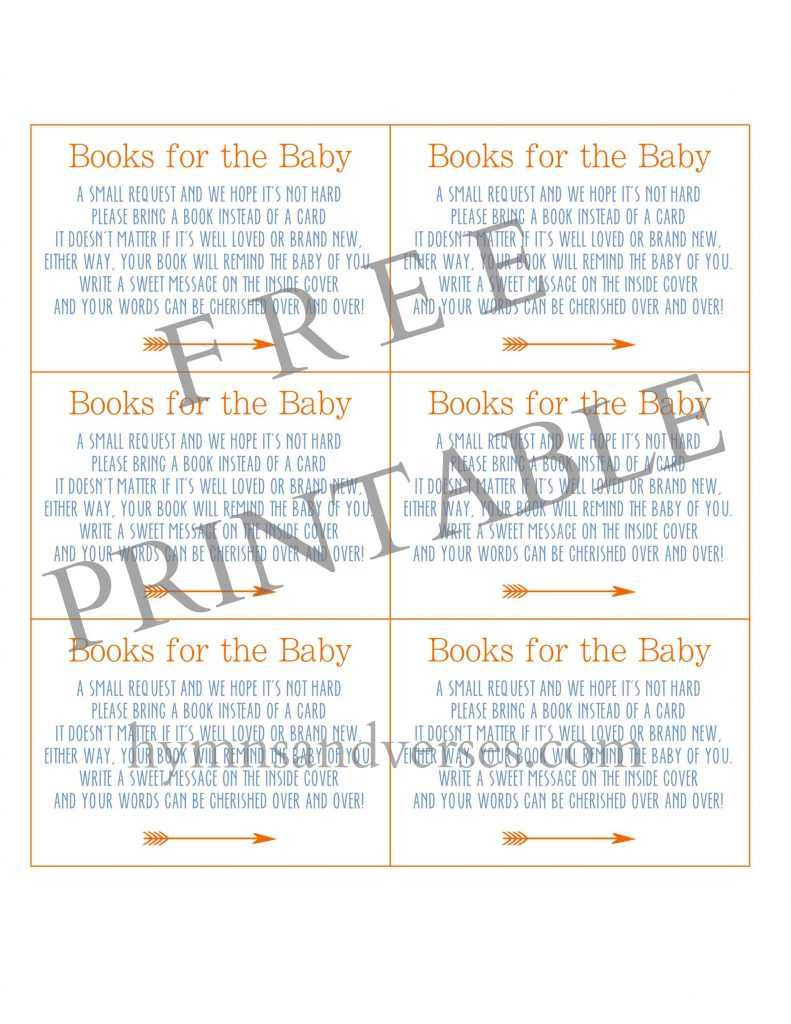 Baby Shower Books for Baby Printable