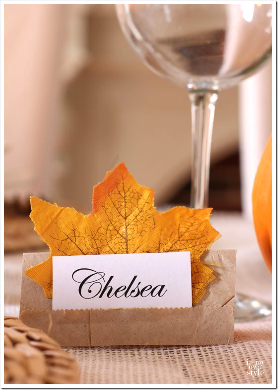Lunch Bag Place Card - In My Own Style - Favorite Things-10-8-16
