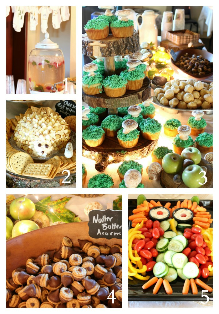Woodland Baby Shower Food