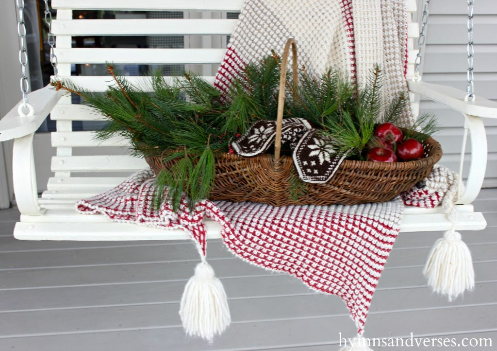 Porch Swing - Cozy Christmas Porch