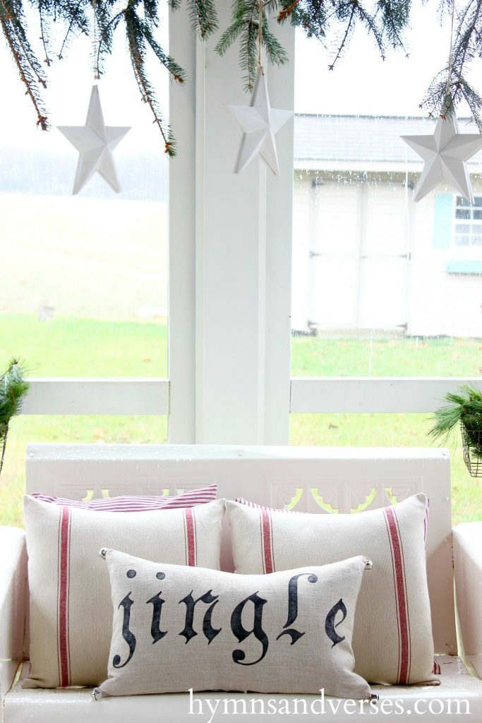 Vintage Glider - Cozy Christmas Porch