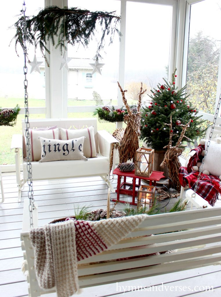 Cozy Christmas Screen Porch