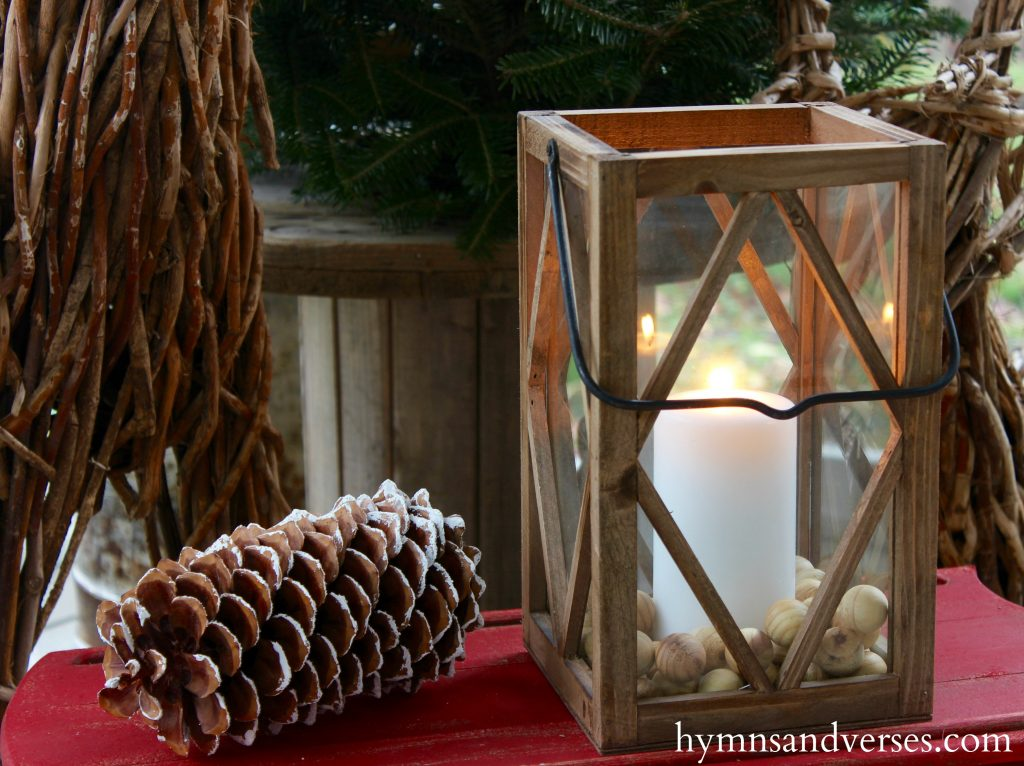 Wood Lantern - Cozy Christmas Porch