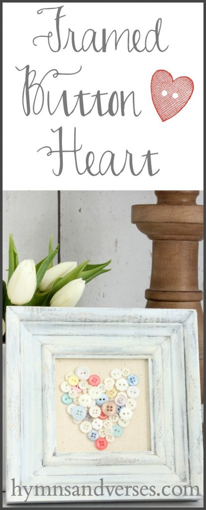 DIY Framed Button Heart